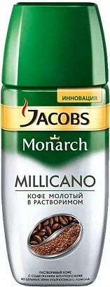 кофе растворимый jacobs monarch millicano 95 г